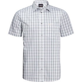 Jack Wolfskin Hot Springs Shirt Korte Mouwen Heren, white rush checks